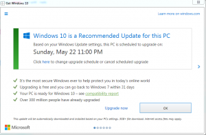 """Here's the good part: click on the """"x"""" to eliminate it and decline? No, clicking on the """"x"""" will actually begin installing the Windows 10 update."""